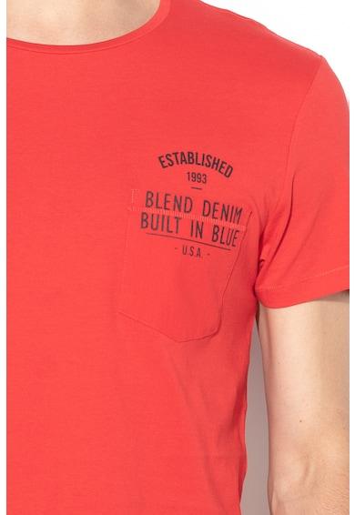 BLEND Tricou slim fit cu buzunar aplicat pe partea din fata Barbati