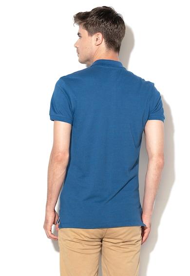 BLEND Тениска с яка и бродирано лого Мъже