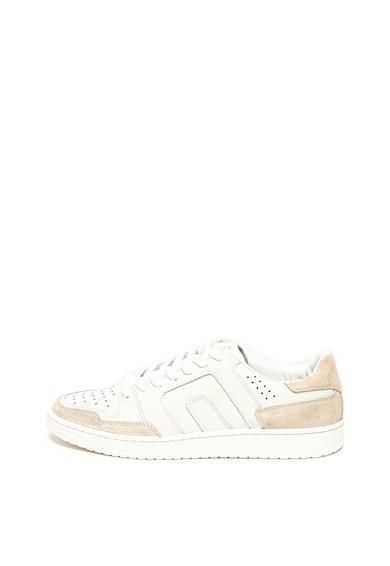 BLEND Pantofi sport de piele cu perforatii Barbati