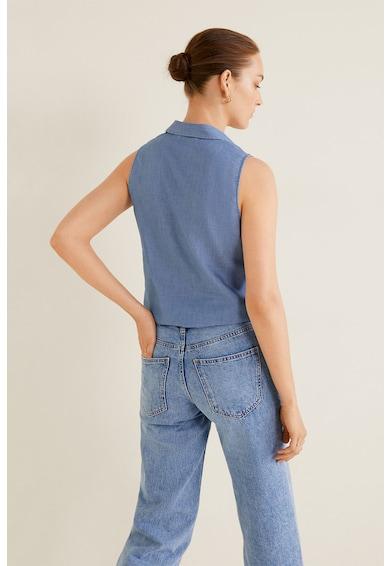 Mango Риза Pau без ръкави с лиосел и джоб на гърдите Жени