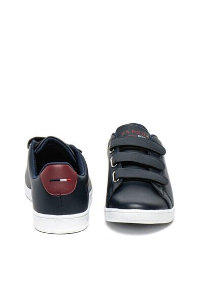 U.S. Polo Assn. Pantofi sport de piele ecologica cu velcro Singer Barbati