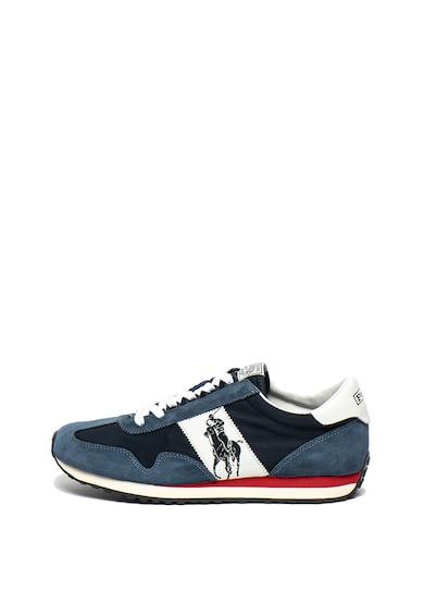 Polo Ralph Lauren Pantofi sport de piele intoarsa si plasa, cu logo stantat Train Barbati