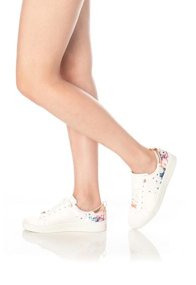 Ted Baker Jymina virágmintás sneaker bőrbetétekkel női