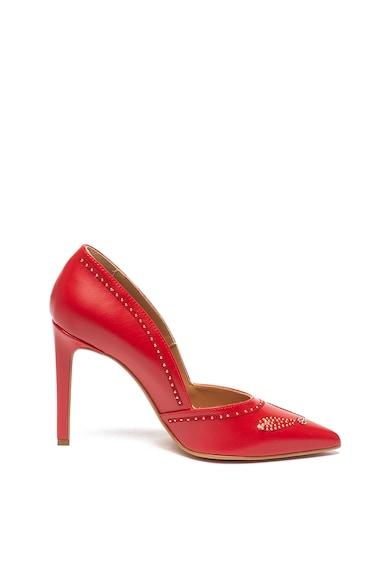Love Moschino Szegecses műbőr tűsarkú cipő női
