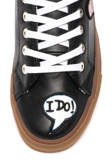 Love Moschino Спортни обувки от еко кожа с апликации Жени