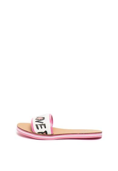 Love Moschino Feliratos mintájú papucs női