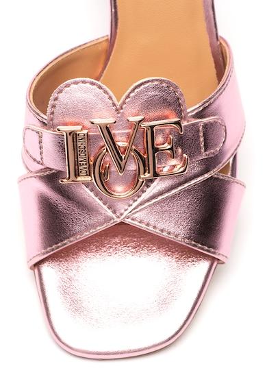 Love Moschino Сандали с масивен ток и ефект металик Жени