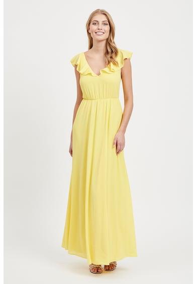 Vila Разкроена рокля с набирания Жени