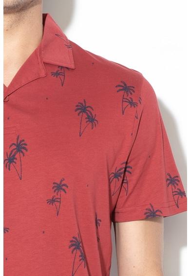 Jack&Jones Tricou polo regular fit cu imprimeu tropical Perry Barbati