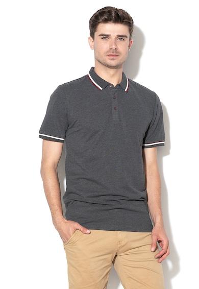 Only & sons Cilas galléros piké póló dekoratív szegélyekkel férfi