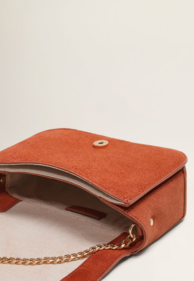 Mango Велурена чанта Nil с верижка Жени