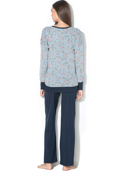 ESPRIT Bodywear Pijama cu decolteu in V si imprimeu Dilara Femei