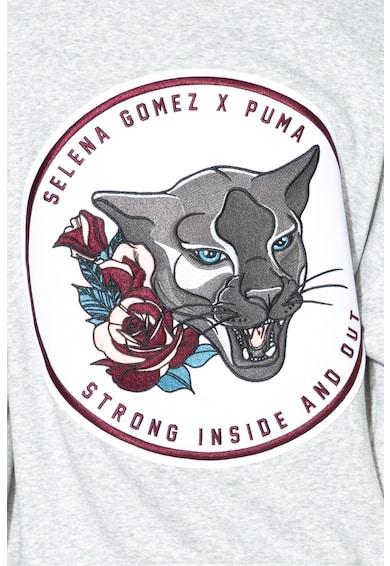 Puma Hanorac cu aplicatie pe partea din spate si fermoar Femei