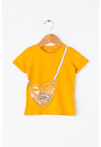 NAME IT Kutilde pamutpóló szív alakú zsebbel Lány