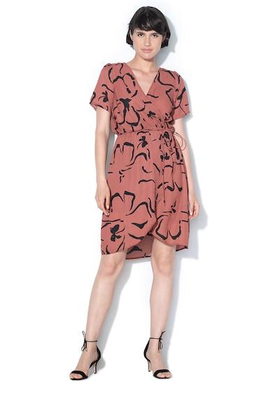 Vero Moda Застъпена рокля Ilona с абстрактен десен Жени