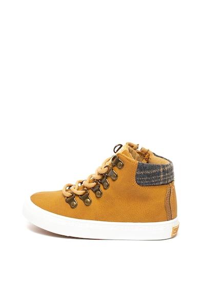 Big Star Pantofi sport mid-high de piele ecologica si material textil Fete