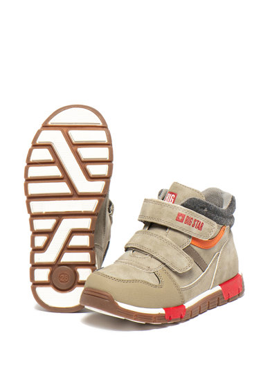 Big Star Pantofi sport mid-high, de piele ecologica, cu velcro Fete