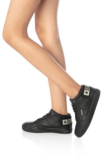 Big Star Pantofi sport mid-high de piele ecologica cu detaliu logo Femei
