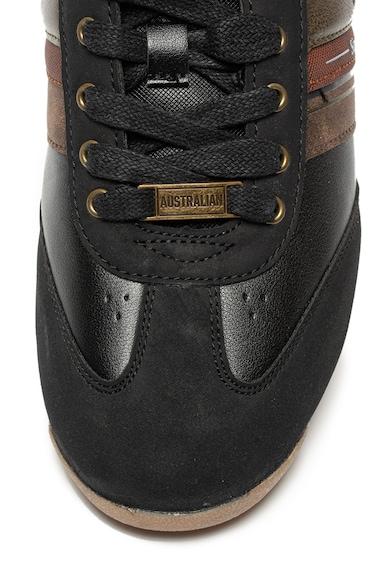 Australian Nyersbőr hatású és műbőr colorblock sneaker férfi