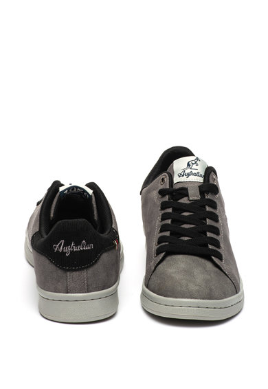 Australian Pantofi sport de piele ecologica, cu logo in relief Barbati
