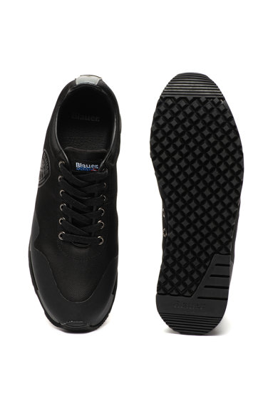 Blauer Denver műbőr sneaker textilbetétekkel férfi