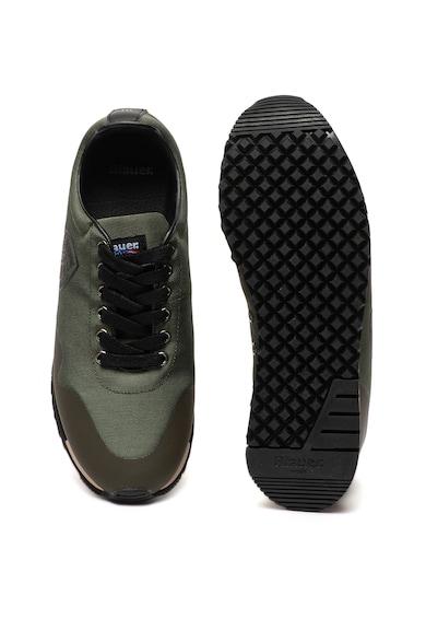Blauer Denver műbőr sneaker textilszegélyekkel férfi