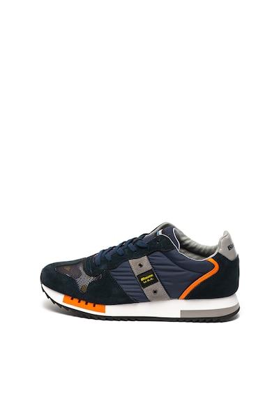 Blauer Pantofi sport de piele intoarsa cu garnituri de material textil Queen Barbati