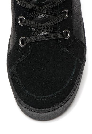 Blauer Madeline flatform cipő nyersbőr szegélyekkel női