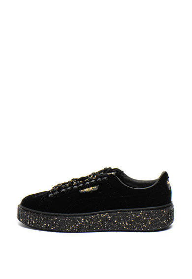 Puma Кадифени спортни обувки с подметка с петнист дизайн Жени