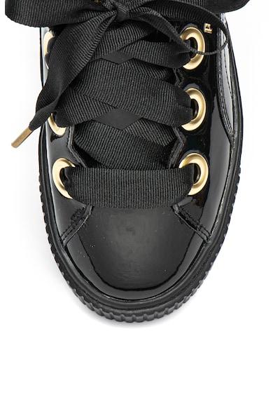 Puma Pantofi sport wedge, cu aspect lacuit si sireturi tip panglica Femei