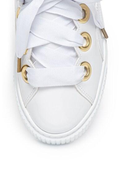 Puma Pantofi sport cu aspect lacuit si sireturi tip panglica Femei