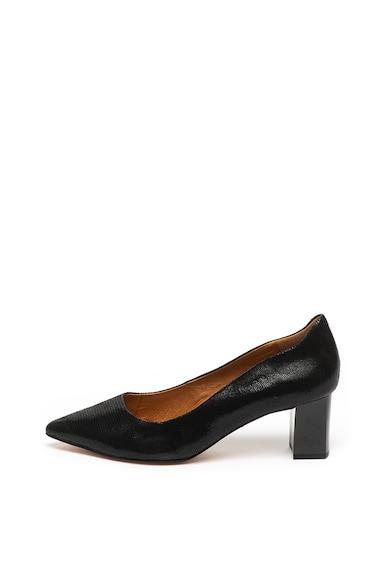 Caprice Кожени остри обувки с шагрен Жени