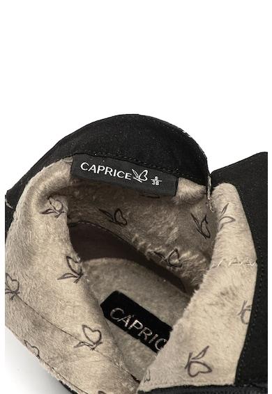 Caprice Кожени боти с детайли с шагрен Жени