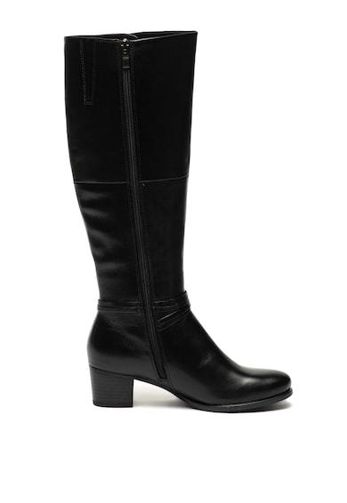 Caprice Cizme de piele lungi pana la genunchi cu toc masiv Femei