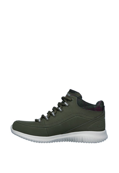 Skechers Pantofi sport de piele peliculizata, cu branturi din spuma cu memorie Just Chill Femei