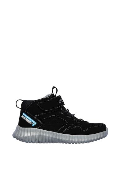 Skechers Pantofi sport mid-high, impermeabili, de piele nabuc ecologica Elite Flex Baieti