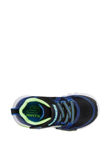 Skechers Pantofi sport cu velcro si talpa cu LED-uri Flex-Glow Baieti