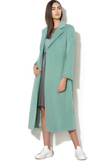 Max&Co Palton din lana cu cordon in talie Longrun Femei