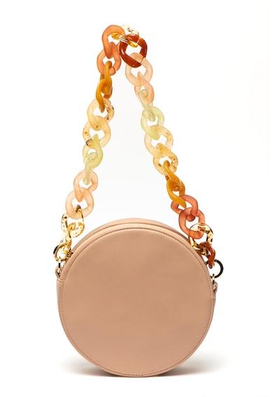 Max&Co Geanta rotunda de piele ecologica cu bareta pentru umar Dot Femei