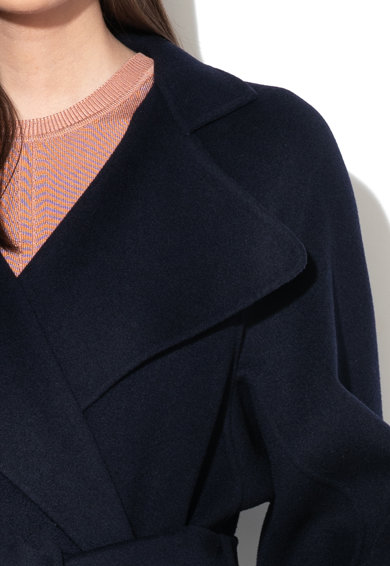 Sportmax Code Palton de lana cu o curea Lavoro Femei