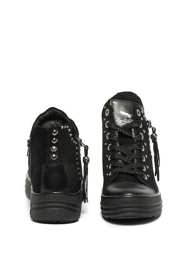 Replay Pantofi sport mid-high de piele Aiken Femei