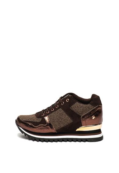 Gioseppo Pantofi sport cu platforma wedge ascunsa si garnituri de piele intoarsa Alzette Femei