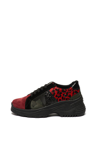 Gioseppo Pantofi sport cu model si insertii de piele intoarsa Emmonak Femei