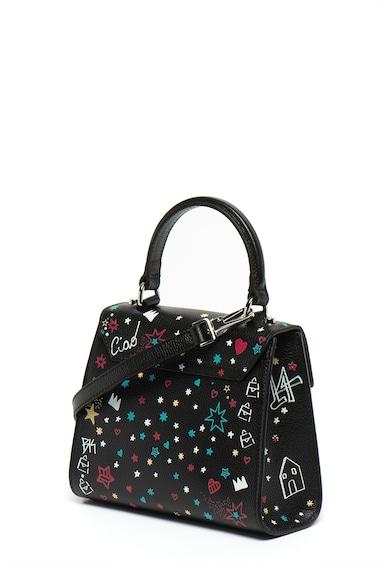 COCCINELLE Малка структурирана кожена чанта с щампа Жени
