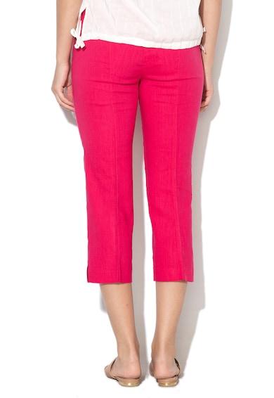 United Colors of Benetton Pantaloni crop din amestec de in Femei