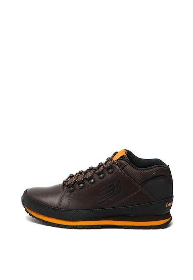 New Balance Pantofi sport mid-high de piele nabuc si plasa Barbati