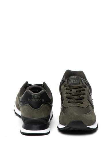 New Balance Pantofi sport de piele intoarsa si plasa 574 Barbati