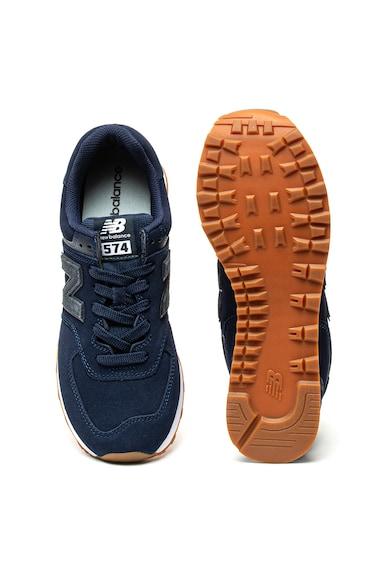 New Balance Велурени спортни обувки 574 с еко кожа Мъже
