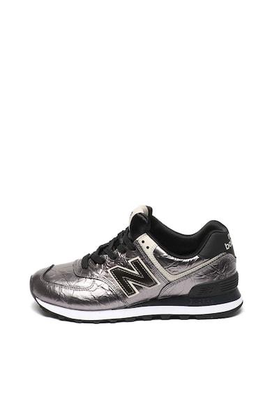New Balance Pantofi sport cu aspect metalizat 574 Femei