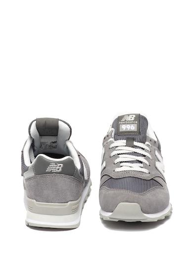 New Balance Pantofi sport de piele intoarsa, cu garnituri de plasa 996 Femei